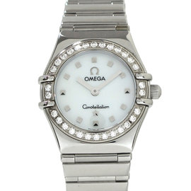 Omega Constellation 1267.3 Stainless Steel With Diamond Bezel 22mm Womens Watch