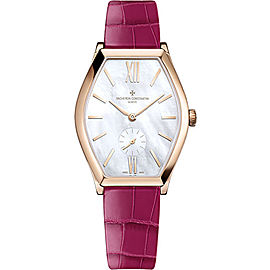 Vacheron Constantin Malte 81015/000R-B282 18K Rose Gold & Leather with Mother Of Pearl Ladies 28.40mm Womens Watch