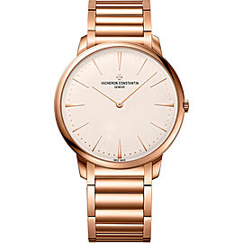 Vacheron Constantin Patrimony 81180/CB1R-9159 18K Rose Gold with Silver Dial 40mm Mens Watch