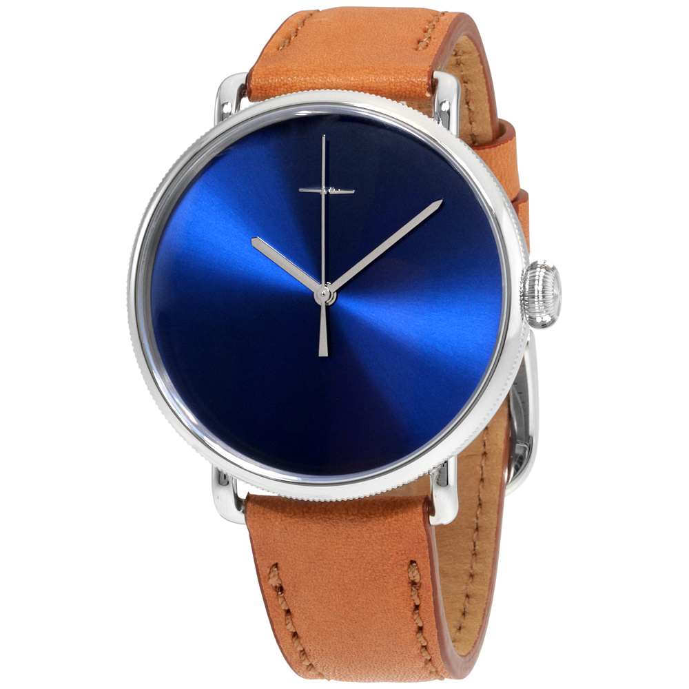 """Image of """"Shinola Bolt 20052581 Stainless Steel & Leather Quartz 43mm Mens Watch"""""""