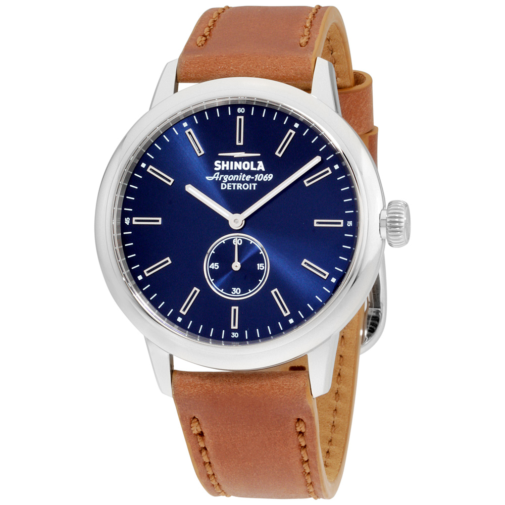"Image of ""Shinola The Bedrock 20058979 Stainless Steel & Leather Quartz 42mm"""
