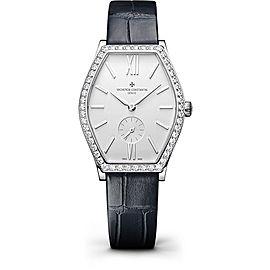 Vacheron Constantin Malte 81515/000G-9891 18K White Gold with Silver Dial 28.40 Womens Watch