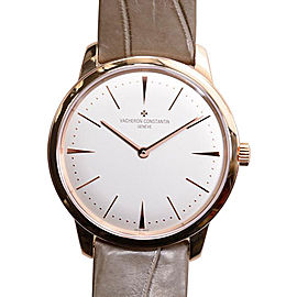Vacheron Constantin Patrimony 81530000R-9682 18K Rose Gold & Leather Automatic with White Dial 36mm Womens Watch