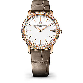 Vacheron Constantin Traditionnelle 81590000R-9847 18K Rose Gold with White Dial 33mm Womens Watch