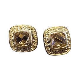 David Yurman Sterling Silver Morganite Diamond Albion Earrings