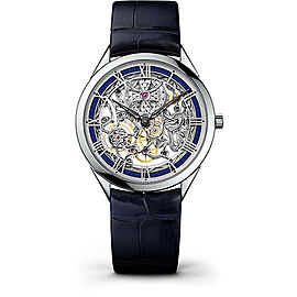 Vacheron Constantin Metiers d'Art 82020000G-9925 18K White Gold & Leather with Skeleton Dial 40mm Mens Watch