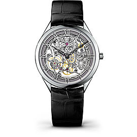 Vacheron Constantin Metiers d'Art 82020000G-9926 18K White Gold & Leather with Skeleton Dial 40mm Mens Watch