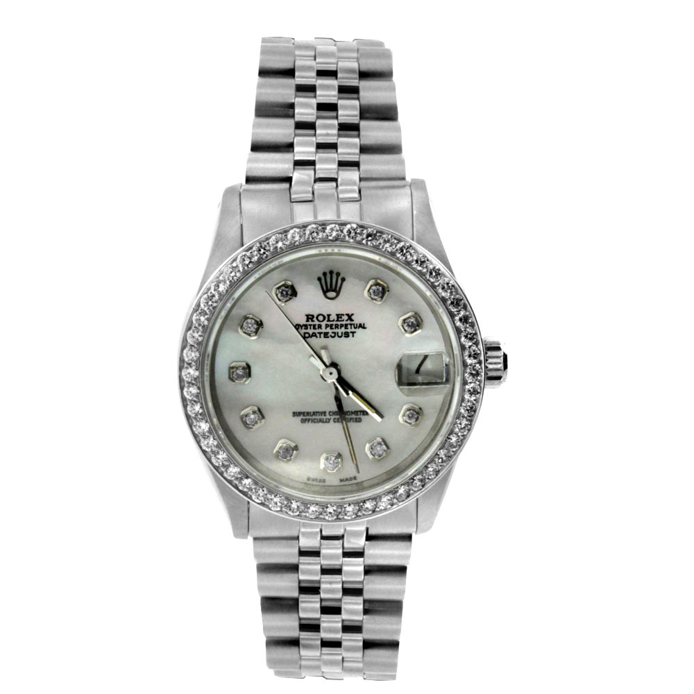 """Image of """"Stainless Steel Datejust Midsize Rolex Watch"""""""