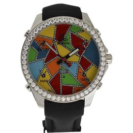 Jacob & Co. Five Time Zone Stainless Steel Rubber & Diamond 45mm Watch