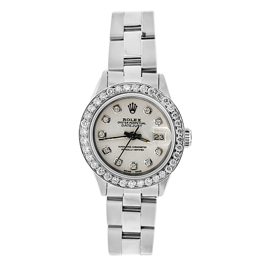 "Image of ""Stainless Steel Diamond Rolex Date Just"""