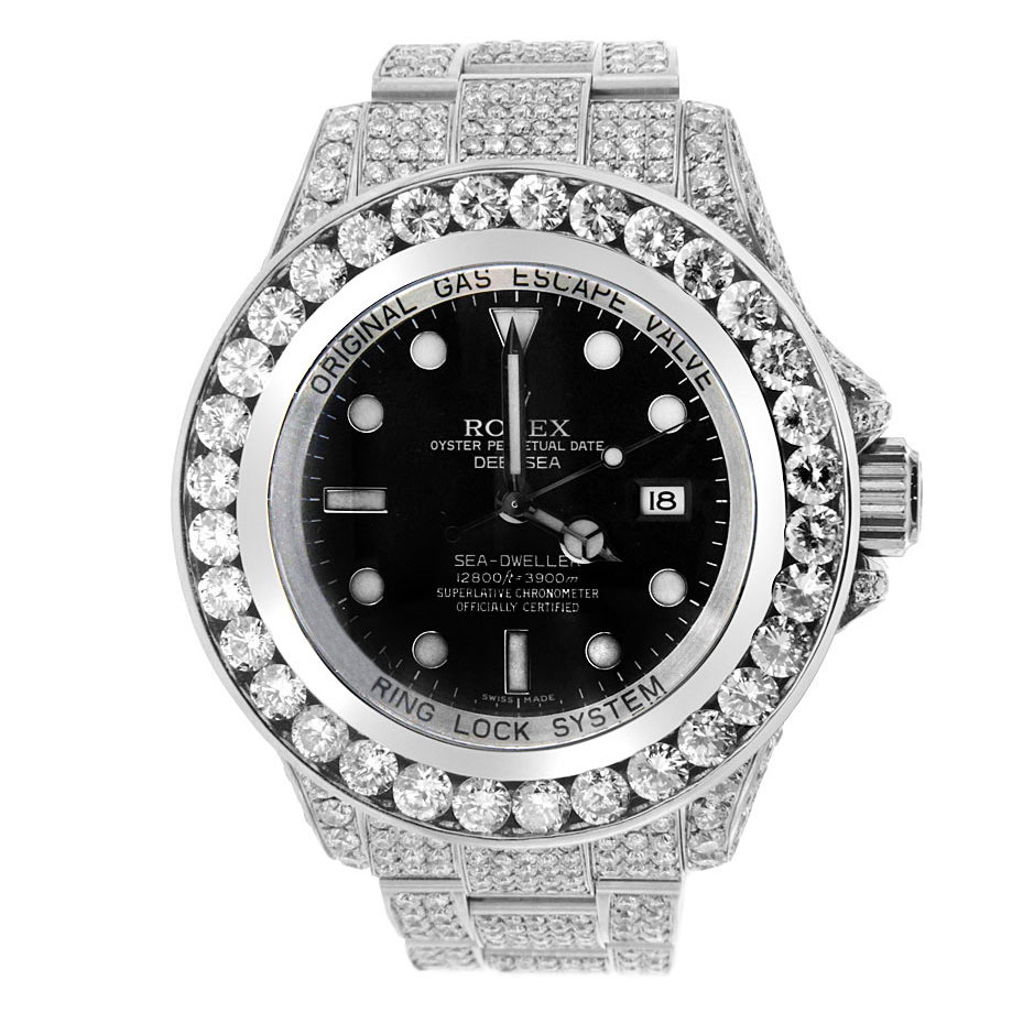 "Image of ""Stainless Steel Diamond Rolex Sea-Dweller"""