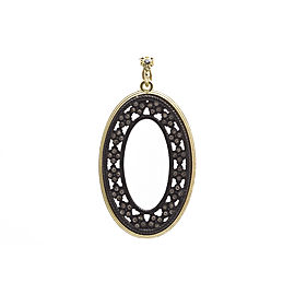 Armenta 18k Yellow Gold; Blackened Sterling Silver Pendant/enhancer
