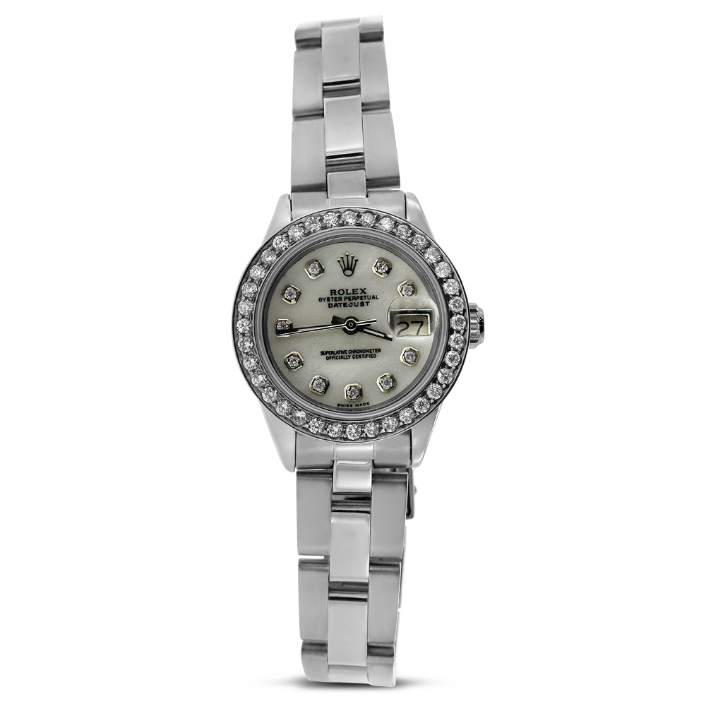 "Image of ""Stainless Steel Rolex Lady Datejust with Diamonds"""