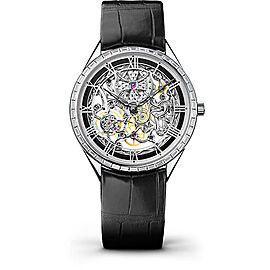 Vacheron Constantin Metiers d'Art 82020/000G-9924 18K White Gold & Leather with Skeleton Dial 40mm Mens Watch