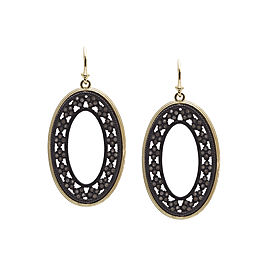 Armenta 18k Yellow Gold; Blackened Sterling Silver Earrings