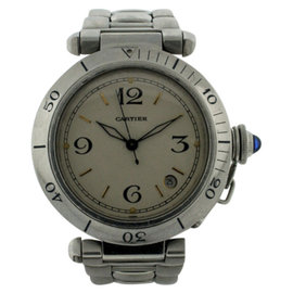 Cartier Pasha Stainless Steel Automatic With Date 38mm Mens Watch