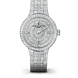 Vacheron Constantin Traditionnelle 82761/QC1G-9852 18K White Gold with Diamond Pave Dial 40mm Mens Watch