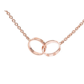 Cartier 18K Pink Gold Baby Love Necklace