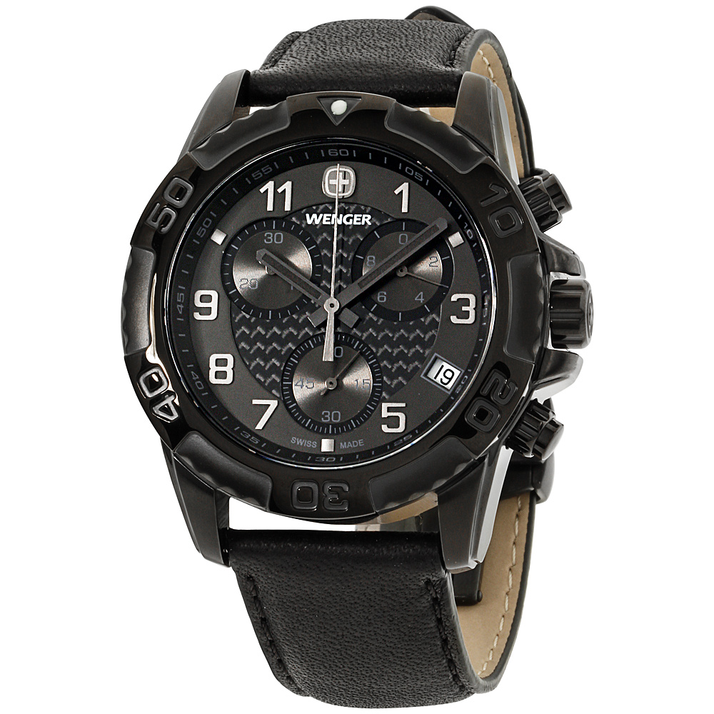 """Image of """"Wenger 66846 Stainless Steel & Leather Quartz 43mm Mens Watch"""""""
