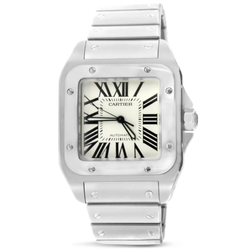 "Image of ""Stainles Steel Large Cartier Santos 100"""
