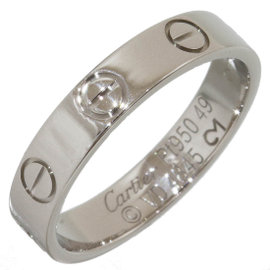 Cartier Platinum Mini Love Ring Size 4.75