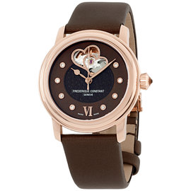 Frederique Constant Double Heart Beat FC-310CDHB2P4 Rose Gold Tone Stainless Steel 34mm Womens Watch
