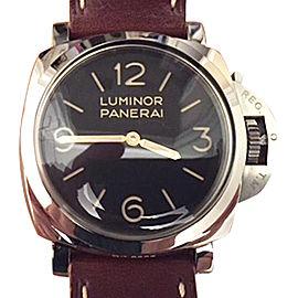 Panerai Luminor PAM372 Stainless Steel & Leather 47mm Watch