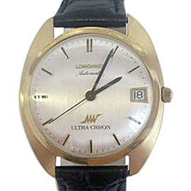 Longines Ultra-Chron 18K Yellow Gold Automatic Vintage 34.7mm Mens Watch
