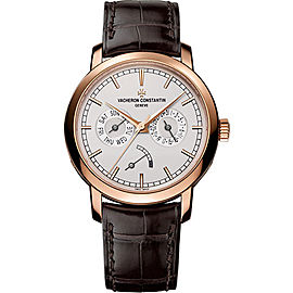 Vacheron Constantin Patrimony 85290000R-9969 18K Rose Gold with Opaline Dial 39.05mm Mens Watch