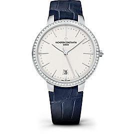 Vacheron Constantin Patrimony 85515/000G-9841 18K White Gold with Silvered Dial 36.5mm Womens Watch