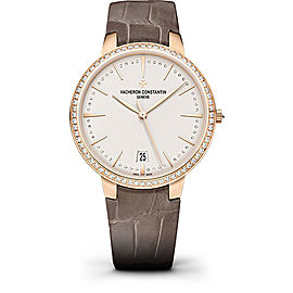 Vacheron Constantin Patrimony 85515/000R-9840 18K Pink Gold with Silvered Dial 36.5mm Womens Watch