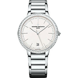 Vacheron Constantin Patrimony 85515CA1G-9841 18K White Gold with Silver Dial 36.5mm Womens Watch