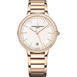 Vacheron Constantin Patrimony 85515/CA1R-9840 18K Rose Gold with Silver Dial 36.5mm Womens Watch