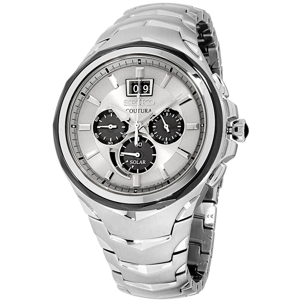 """Image of """"Seiko Coutura Ssc627 Stainless Steel with Silver Dial 46mm Mens Watch"""""""