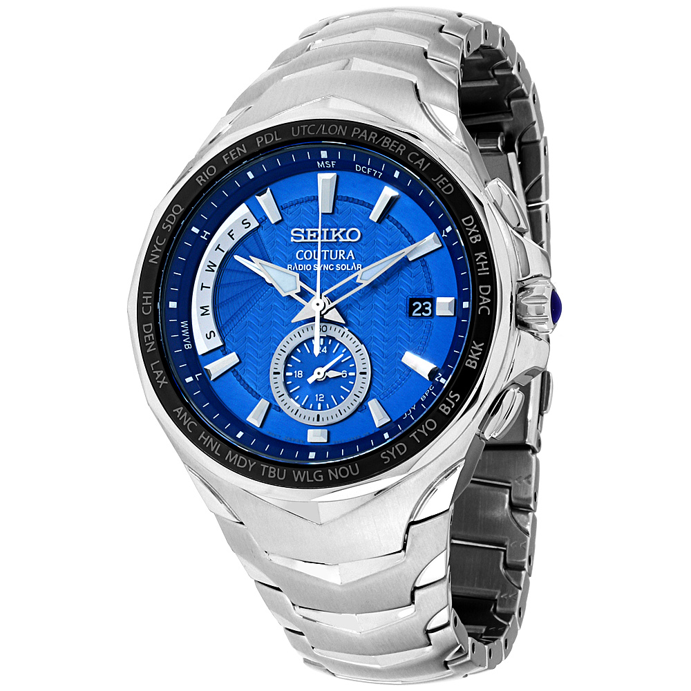 """Image of """"Seiko Coutura Ssg019 Stainless Steel with Blue Dial 45mm Mens Watch"""""""