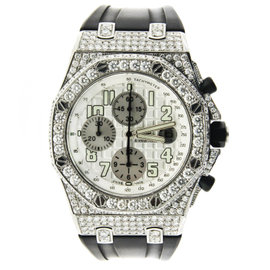 Audemars Piguet Royal Oak Offshore with White Diamond Bezel & Case