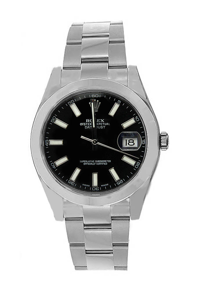 """Image of """"Rolex Date Just II Stainless Steel with Black Dial"""""""