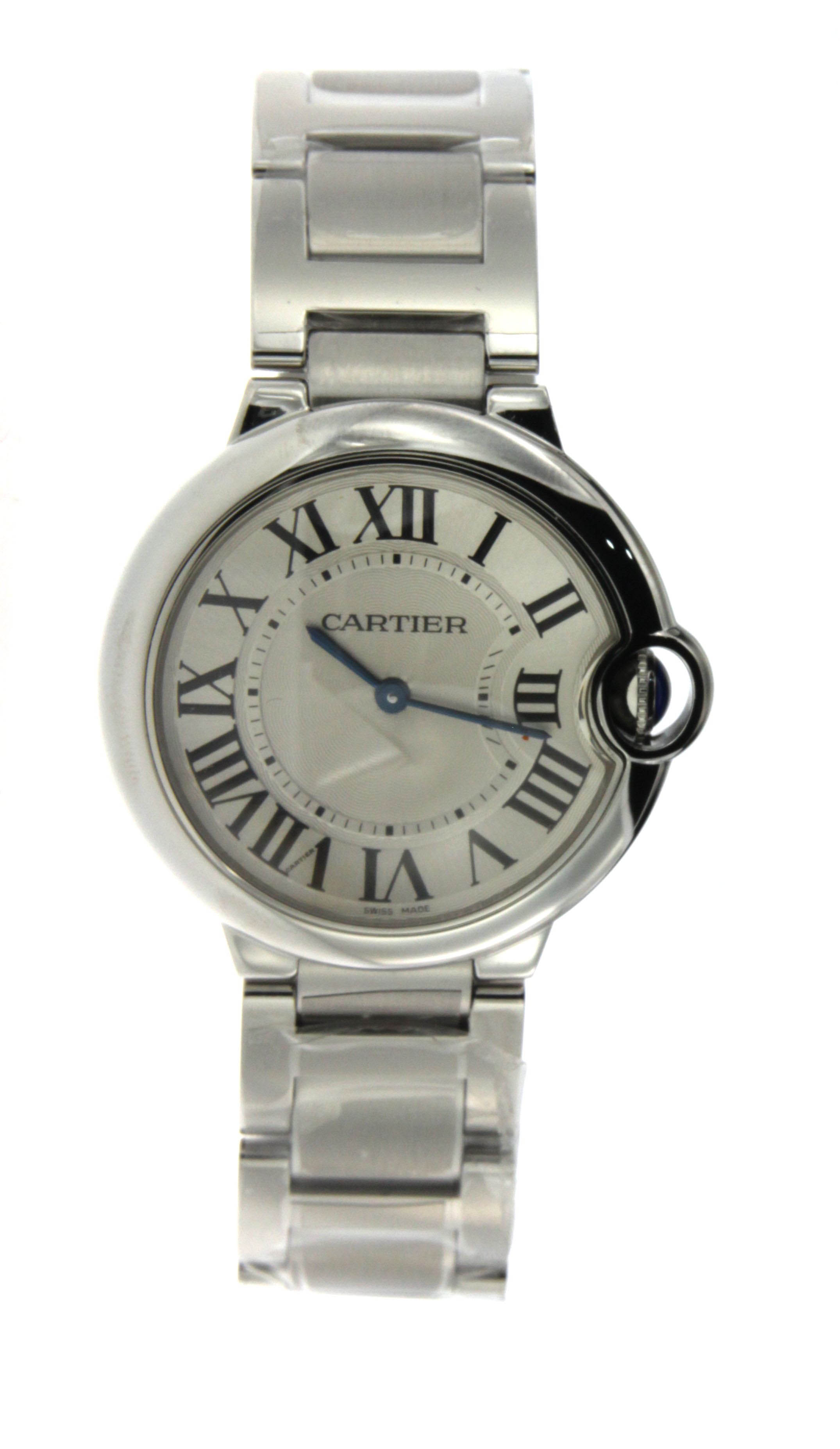 Stainless Steel Cartier Ballon Bleu