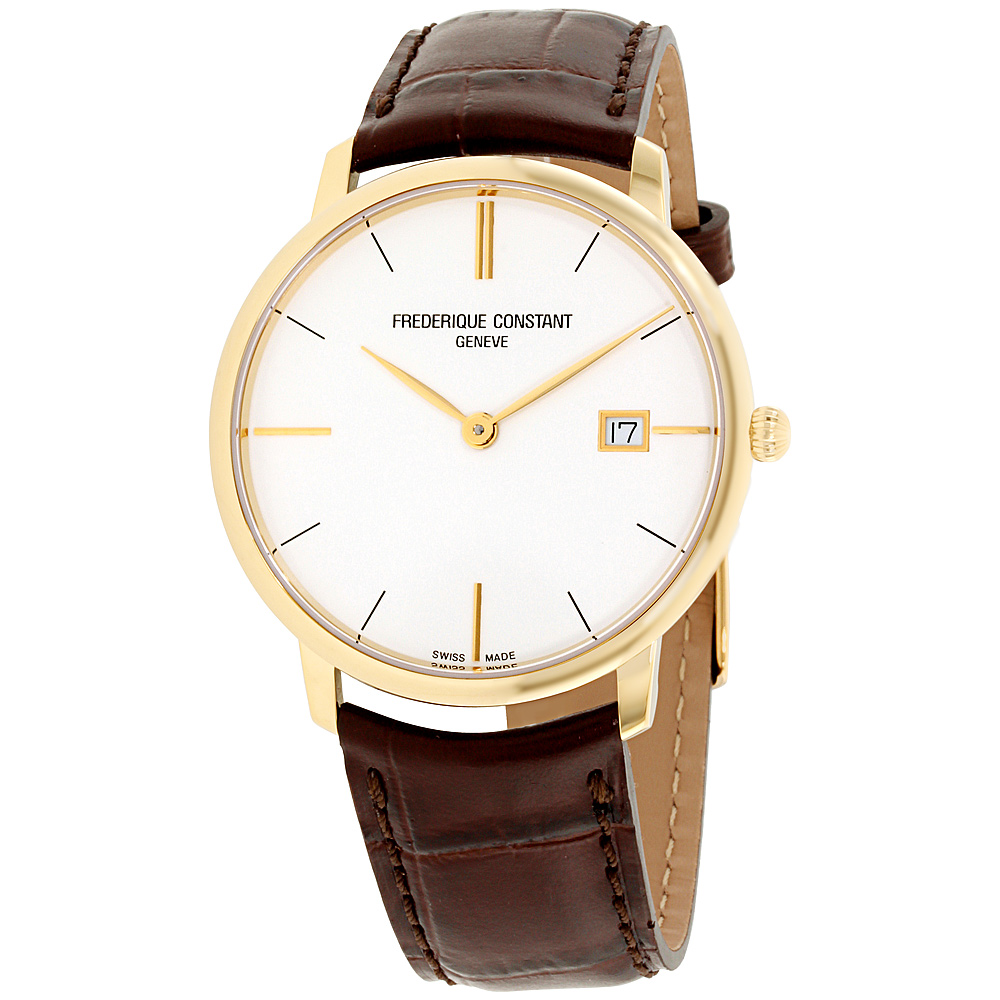 "Image of ""Frederique Constant Slimline Fc220V5S5 Gold Tone Stainless Steel"""