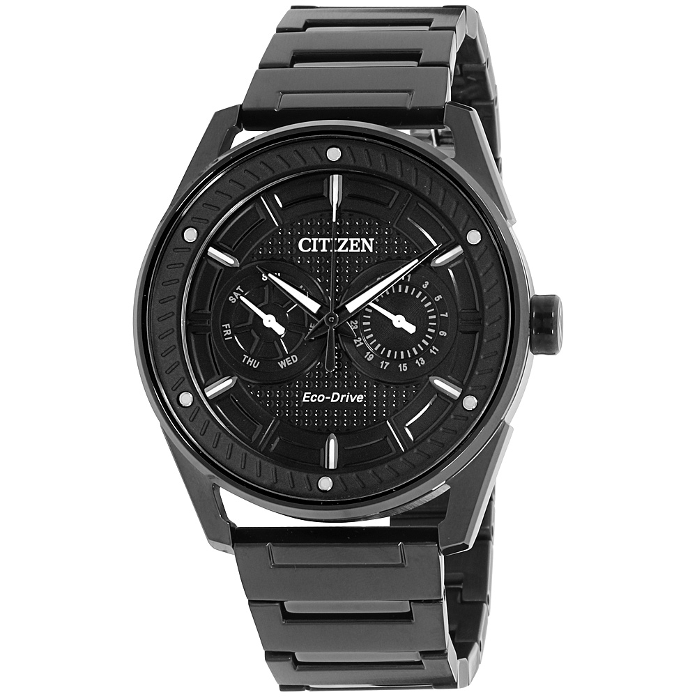 "Image of ""Citizen Bu402559E Black Ion-Plated Stainless Steel 42mm Mens Watch"""