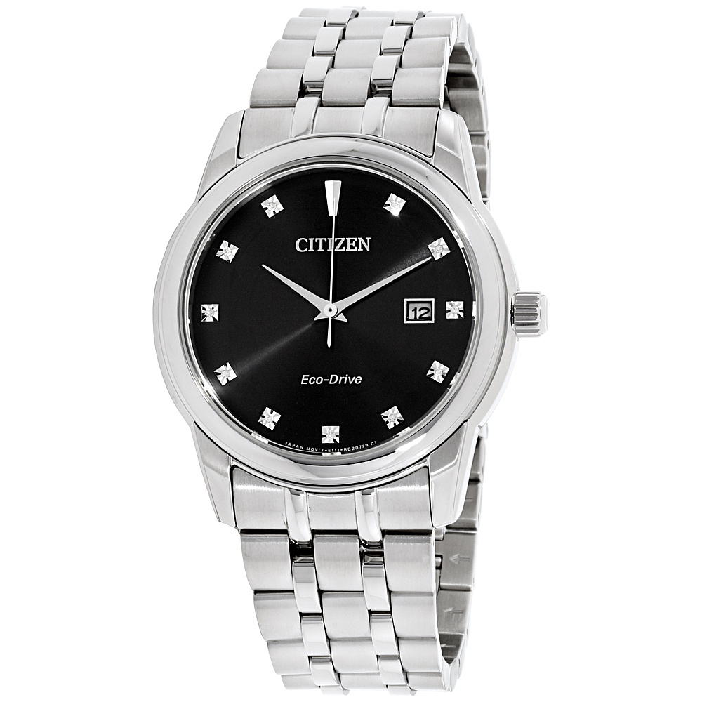 """Image of """"Citizen Bm7340-55E Stainless Steel with Black Dial & Diamond 39mm Mens"""""""