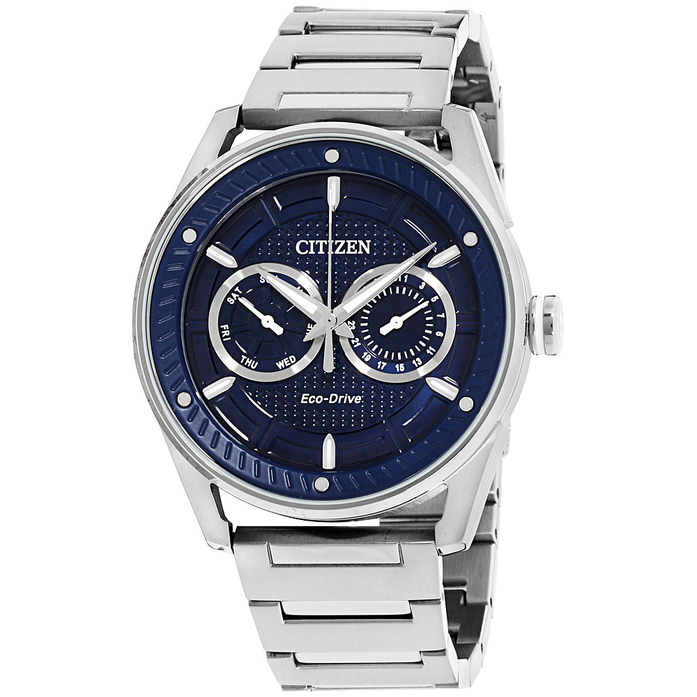 """Image of """"Citizen CTO Bu4020-52L Stainless Steel with Blue Dial 42mm Mens Watch"""""""