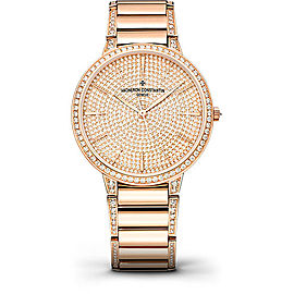 Vacheron Constantin Patrimony 86615/CA2R-9839 18K Rose Gold with Diamond Pave Dial 36.5mm Womens Watch