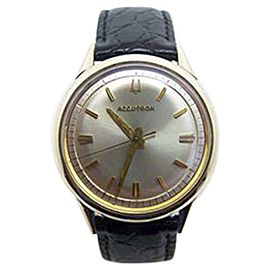 Bulova Accutron 10K Yellow Gold Filled Vintage 35mm Mens Watch Year 1967