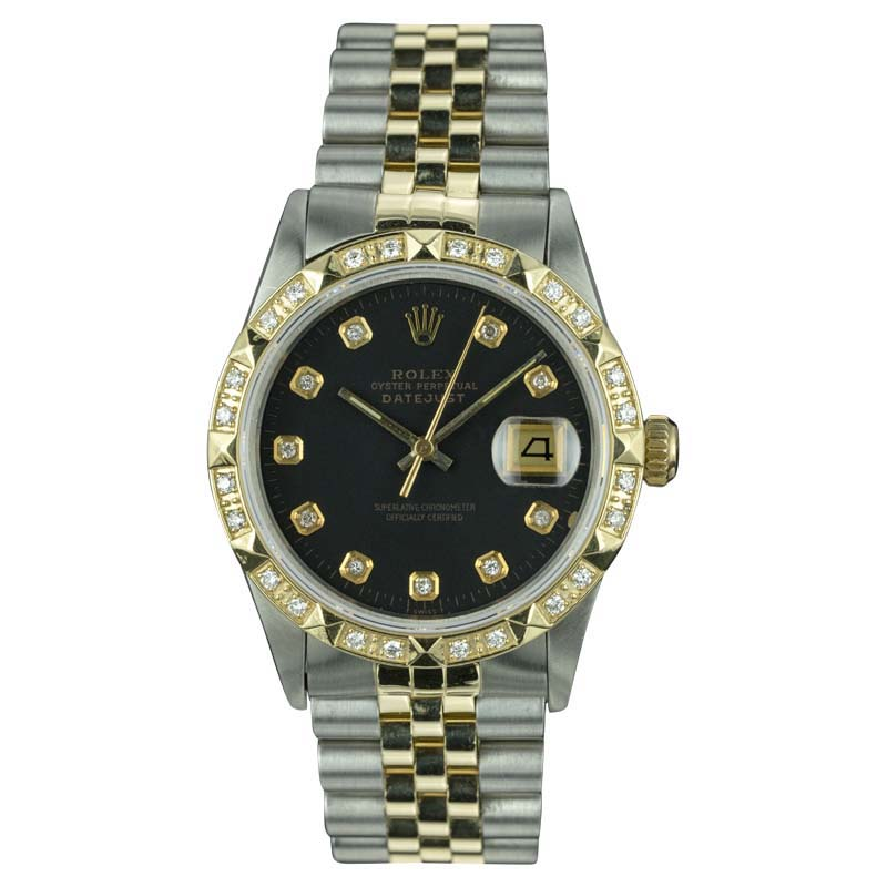 "Image of ""Rolex Datejust 18K Yellow Gold and Stainless Steel Vintage 36mm Mens"""
