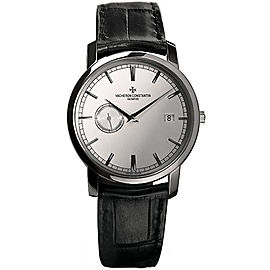 Vacheron Constantin Traditionelle 87172/000G-9301 18K White Gold and Leather with Silver Dial Automatic Mens Watch
