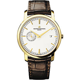 Vacheron Constantin Traditionelle 87172000J-9512 18K Yellow Gold with Silver Dial 38mm Mens Watch