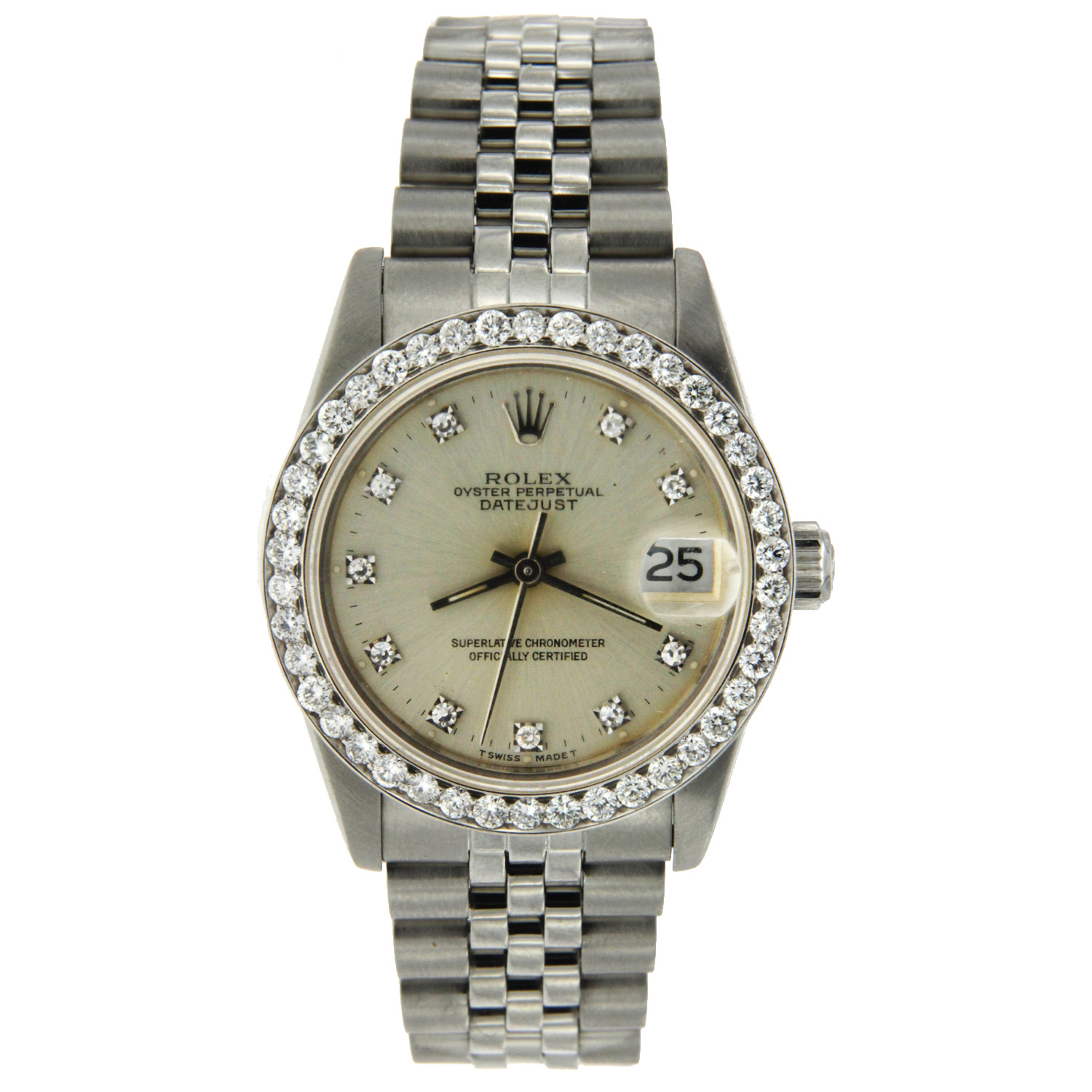 """Image of """"Stainless Steel Oyster Perpetual Midsize Rolex"""""""
