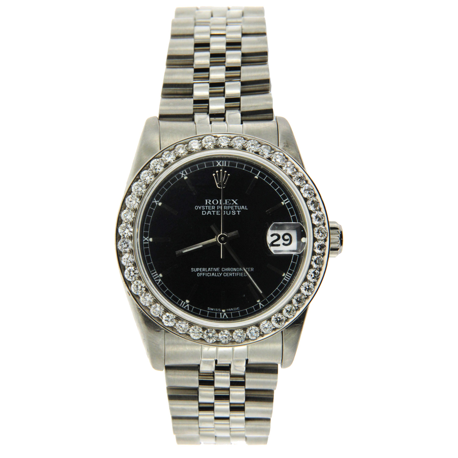 "Image of ""Stainless Steel MidSize Datejust Rolex"""