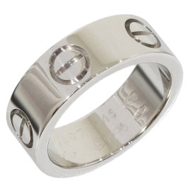 Cartier 18K White Gold Love Ring Size 3.25